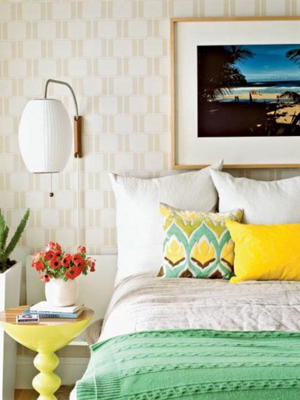 lampe-de-chevet-murale-linge-coloré-peinture