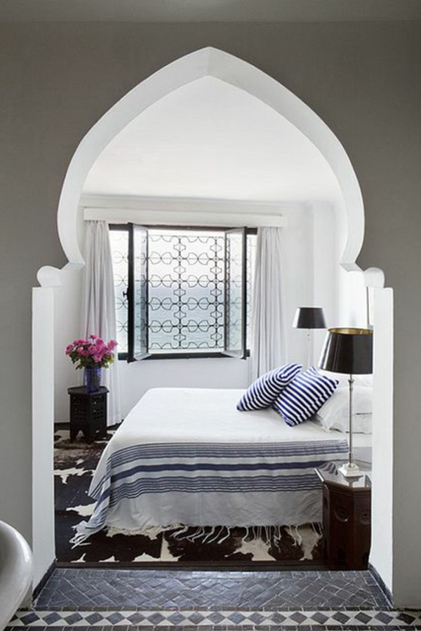 lampe-design-chevet-chambre-à-coucher-lampe-noir-linge-blanc