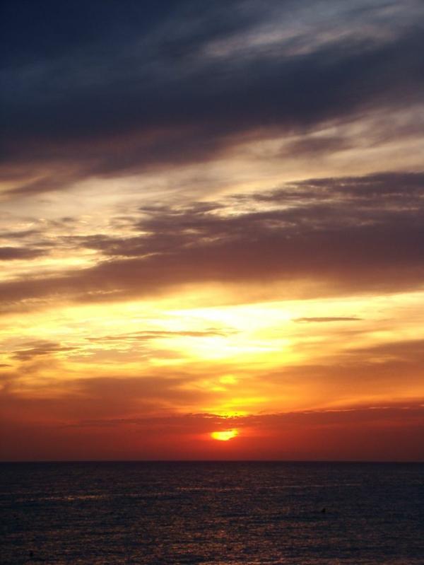 le-coucher-de-soleil-sur-la-mer-à-Veules