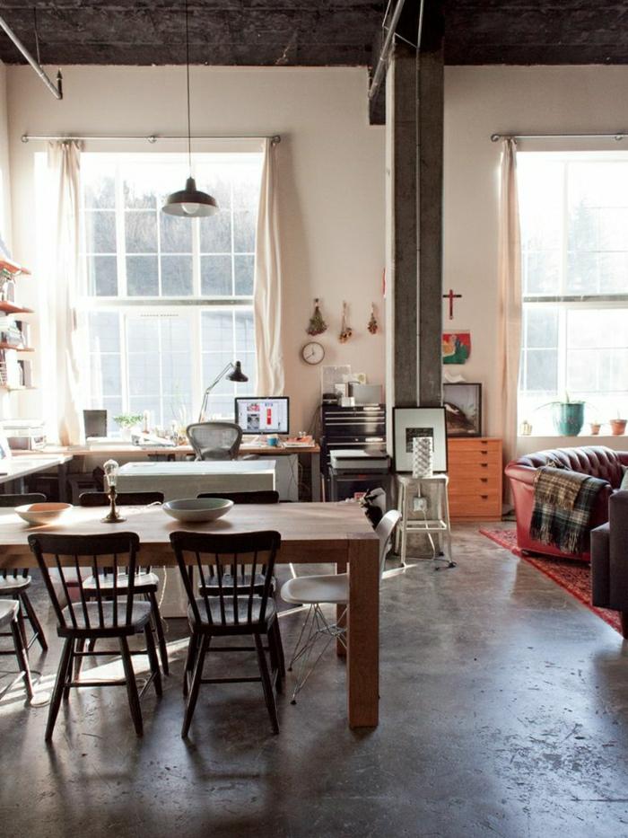 loft-montreuil-solen-lin-fenetres-grandes-atelier-plein-de-lumière-chaise-rétro-en-bois