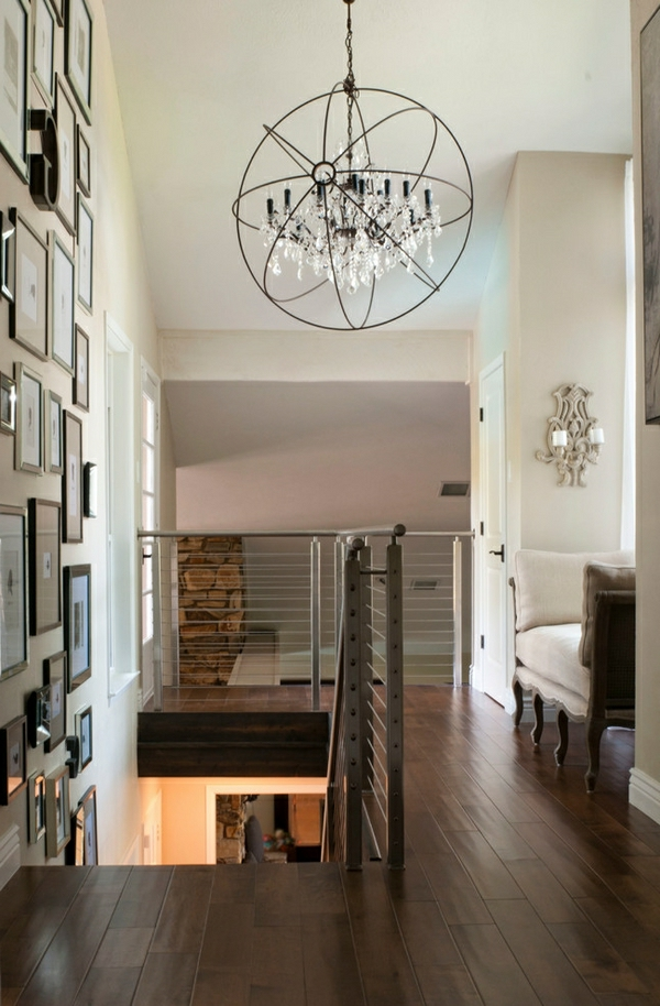 lustre-en-cristal-intérieur-loft-industriel