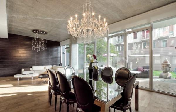 lustre-en-cristal-intérieur-moderne-déco-zen