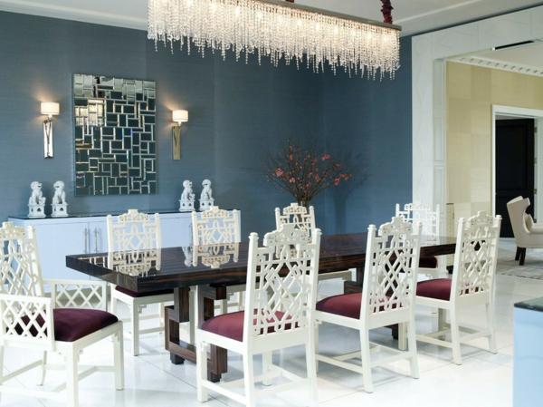lustre-en-cristal-salle-à-manger-plafonnier-rectangulaire