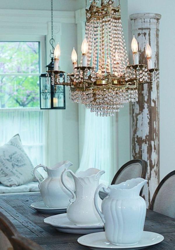 lustre-en-cristal-salle-à-manger-vintage