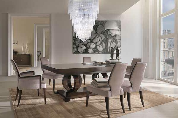 lustre-en-cristal-salle-de-déjeuner-élégante
