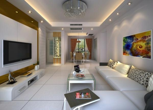 lustre-en-cristal-salle-de-séjour-ultra-moderne