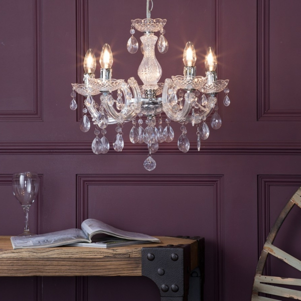 lustre-en-cristal-suspensions-jolies-décoratives