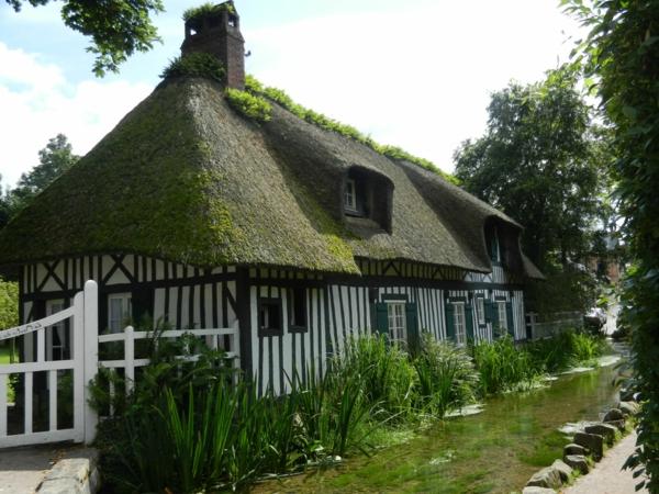 maison-ancienne-jolie-le-toit-vert-jardin-rurale