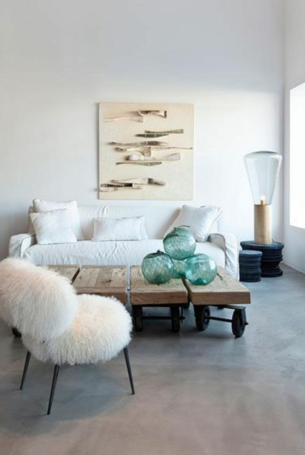 meuble-en-palette-salon-moderne-canapé-blanc