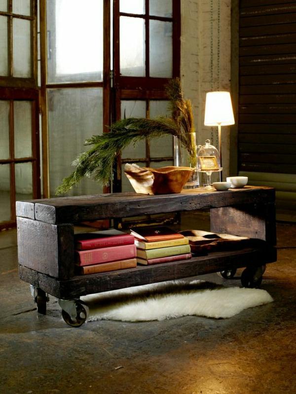 meubles-industriels-commode-en-bois-tapis-en-cuir-blanc