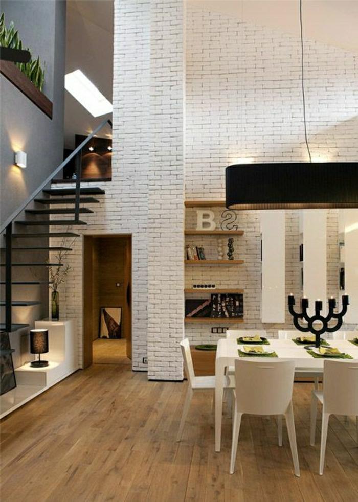 mur-en-brique-blanc-appartement-loft-moderne