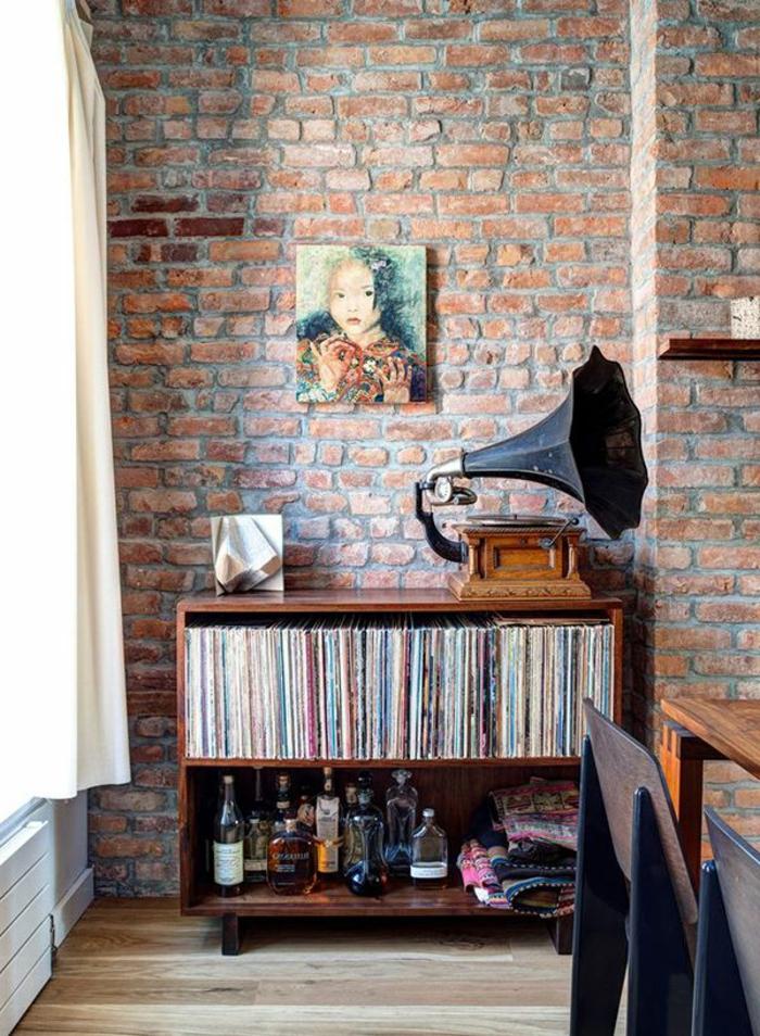 mur-en-brique-décor-vintage-à-la-maison