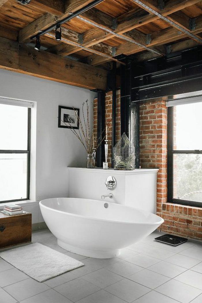 Le mur en brique d cors spectaculaires for Mur de salle de bain en bois