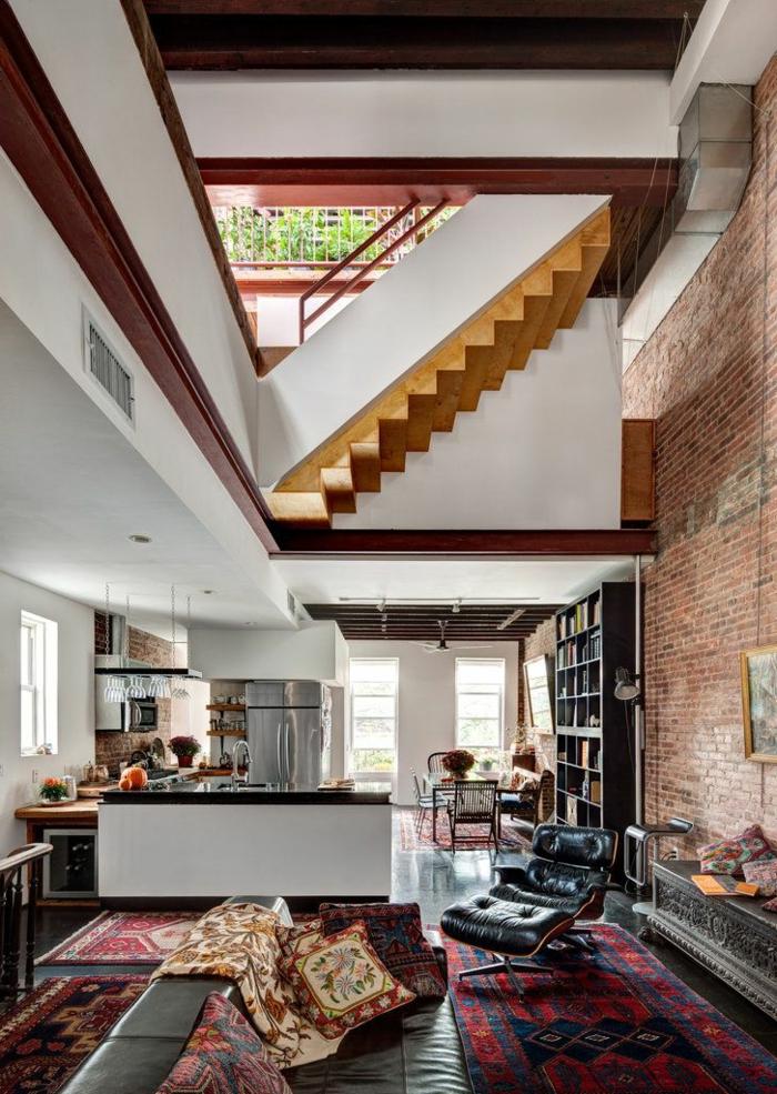 mur-en-brique-plan-ouvert-de-loft-contemporain