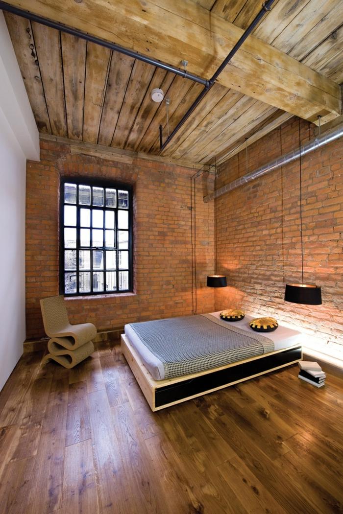 mur-en-brique-une-chambre-à-coucher-minimaliste