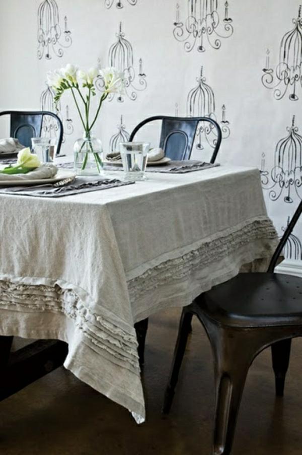 nappe-de-table-en-lin-beige-cuisine-salle-de-séjour