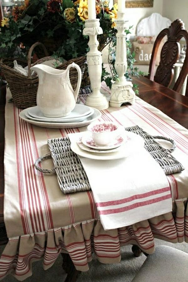 nappe-en-tissu-beige-blanc-rouge-bougie-table-set-de-table-moderne