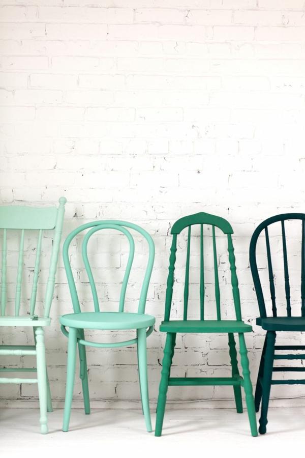 originale-chaise-salle-a-manger-pas-cher-vert-ombre