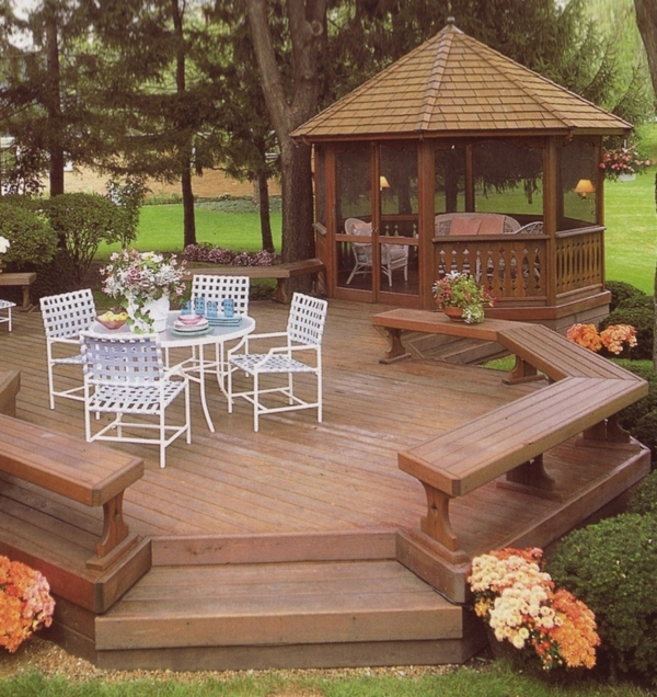 pavillon de jardin en bois. Black Bedroom Furniture Sets. Home Design Ideas