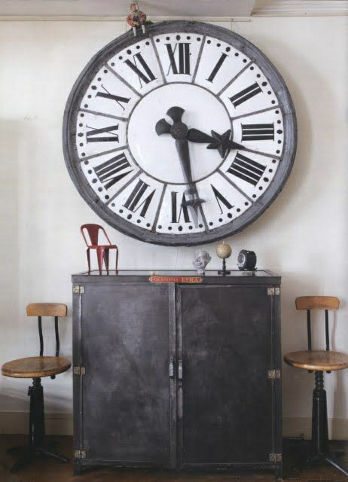 l 39 horloge murale id es en photos pour d corez vos murs. Black Bedroom Furniture Sets. Home Design Ideas