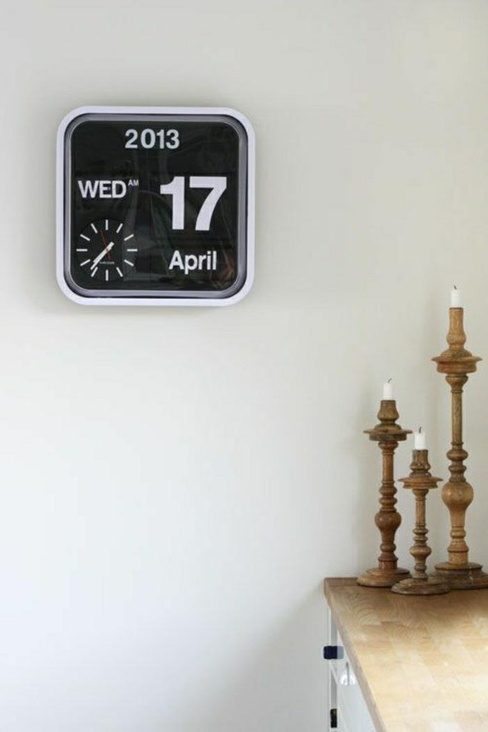Montre De Mur - Horloge Thermometre Digital Design Blanc Opio ...