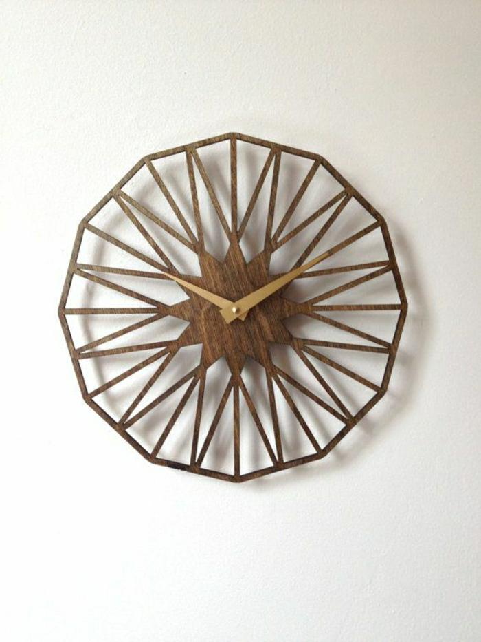pendule-murale-en-bois-horloge-en-bois-mur-blanc-horloge-murale