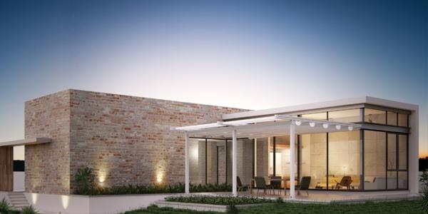 pergola-bioclimatique-accolée-à-une-maison-contemporaine