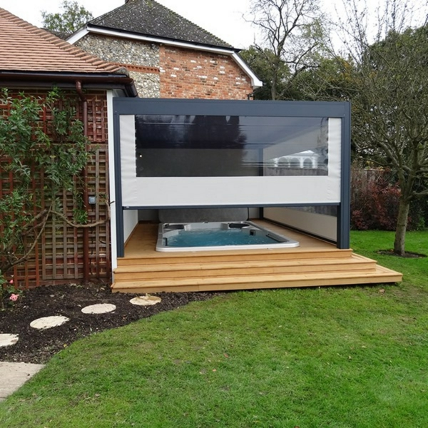 jacuzzi sur terrasse bois diverses id es de conception de patio en bois pour. Black Bedroom Furniture Sets. Home Design Ideas