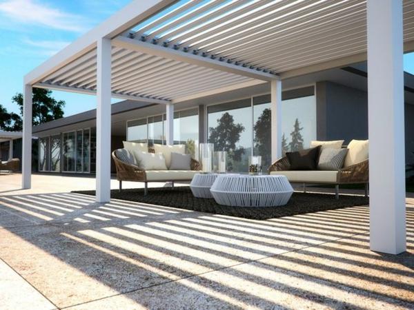 La pergola bioclimatique d coration et fonctionnalit for Exterieur villa moderne