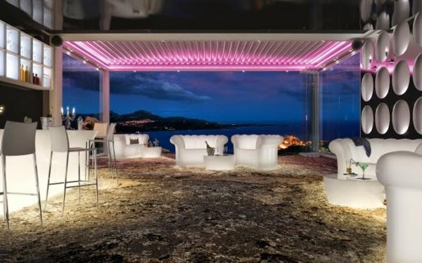 pergola-bioclimatique-moderne-éclairage-led