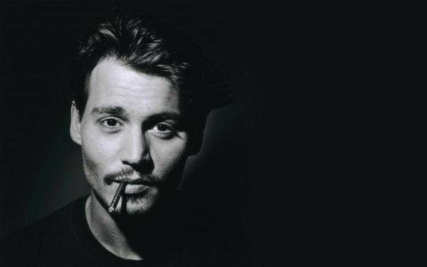 photographie-acteur-johnny-noir-et-blanc-portrait-Johnny-Depp-artiste