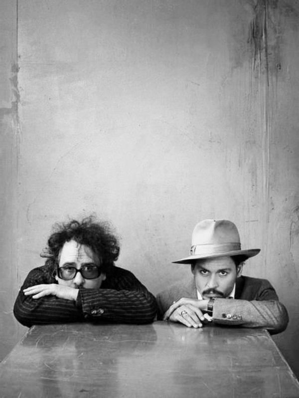photographie-noir-et-blanc-portrait-tim-burton-et-johnny-depp