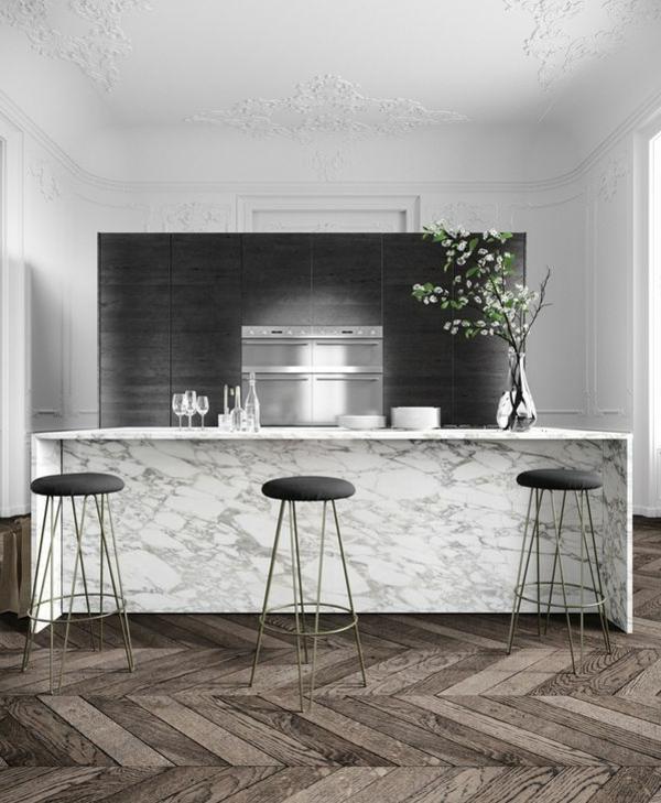 plan-de-travail-en-marbre-décor-éclectique