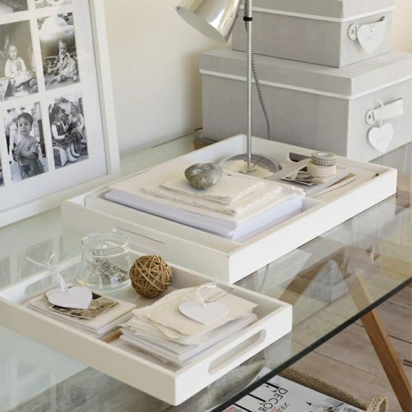 Le plateau de bureau en verre pour votre office la maison - Plateau verre pour bureau ...