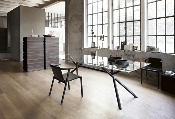 ✿ Le plateau de bureau en verre pour votre office à la maison