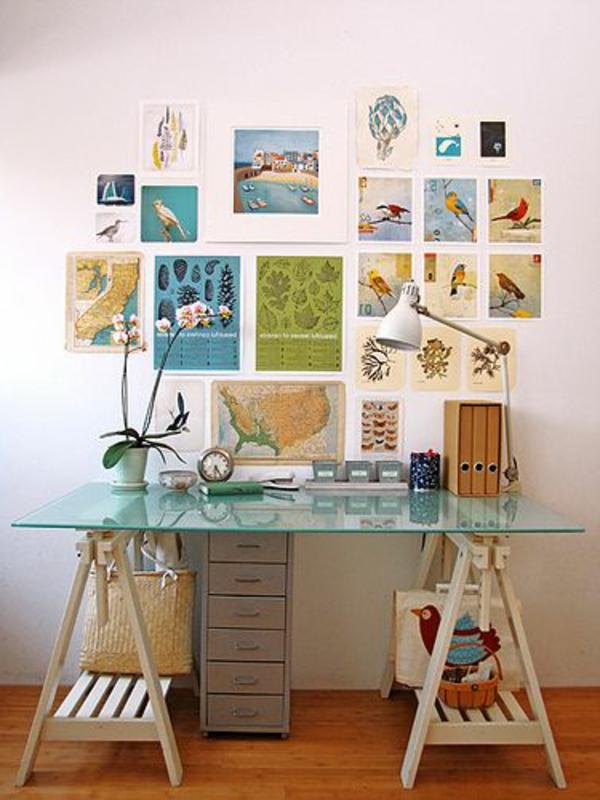 le plateau de bureau en verre pour votre office la. Black Bedroom Furniture Sets. Home Design Ideas