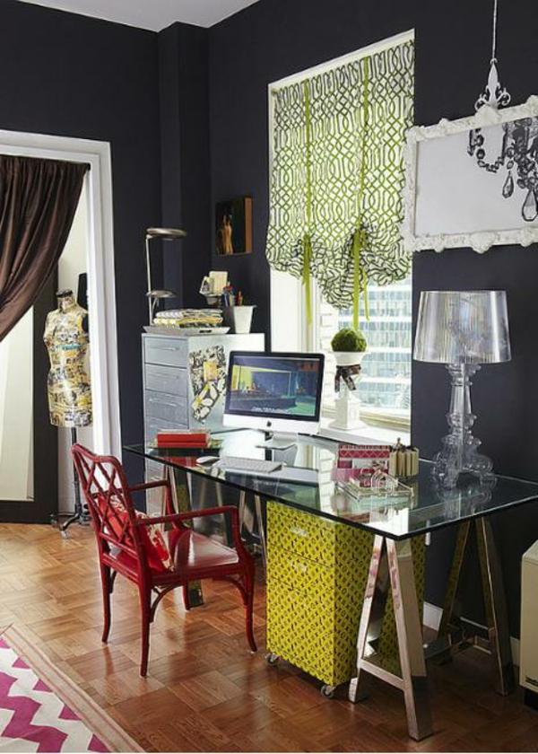 plateau-de-bureau-en-verre-idées-déco-de-chambre