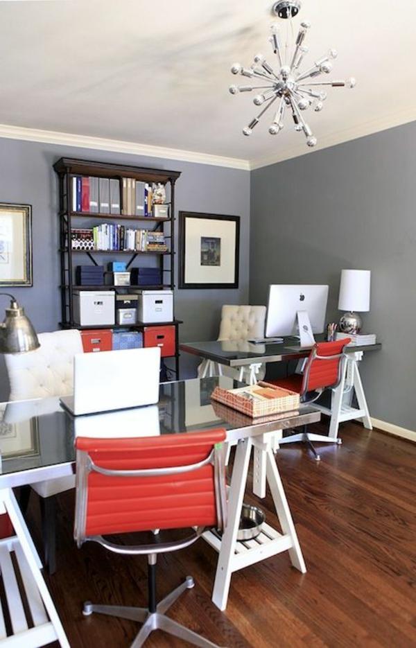 Le plateau de bureau en verre pour votre office la for Bureau avec plateau en verre
