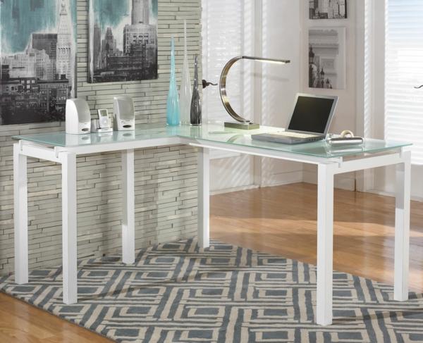 Le plateau de bureau en verre pour votre office la maison - Plateau d angle pour bureau ...
