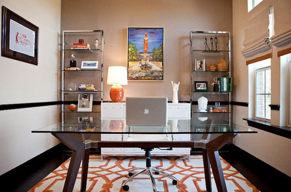 plateau-de-bureau-en-verre-tapis-géométrique