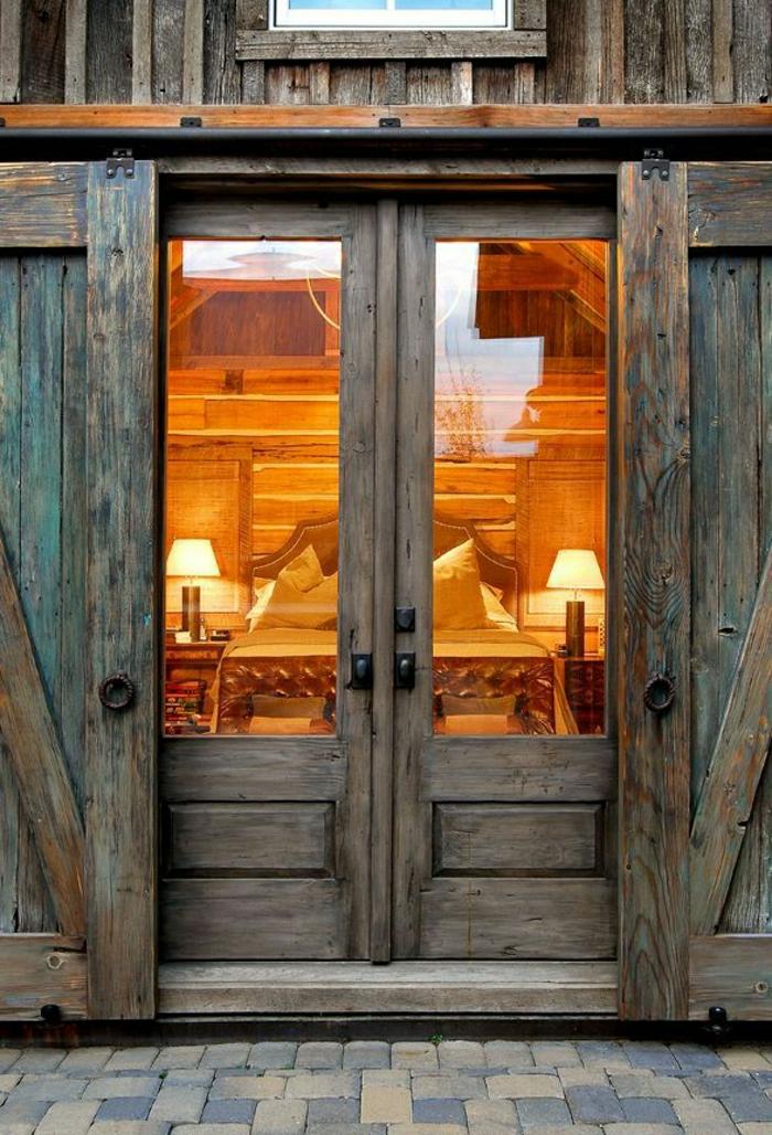porte-coulissante-d-extérieur-en-bois-coulissante-de-style-rétro-rustique
