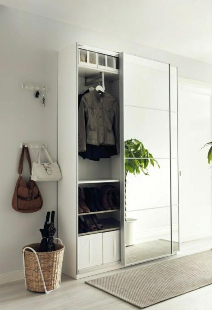 portes-coulissantes-placard-porte-avec-miroir-tapis-gris-plante-verte-sac-a-main