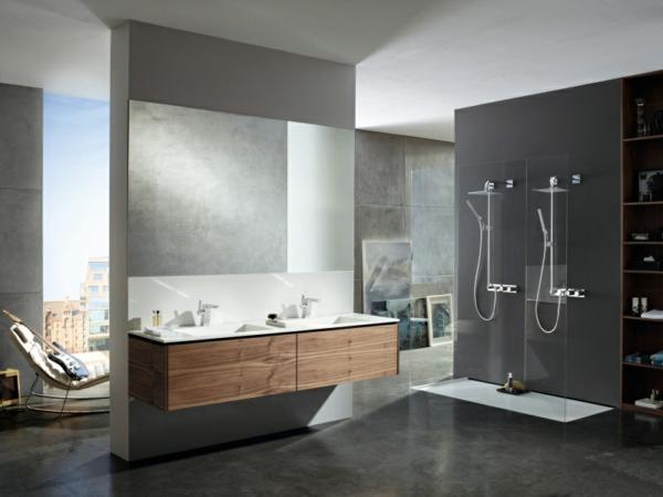Le receveur de douche extra plat l gance pour la salle de bains - Douche double italienne ...