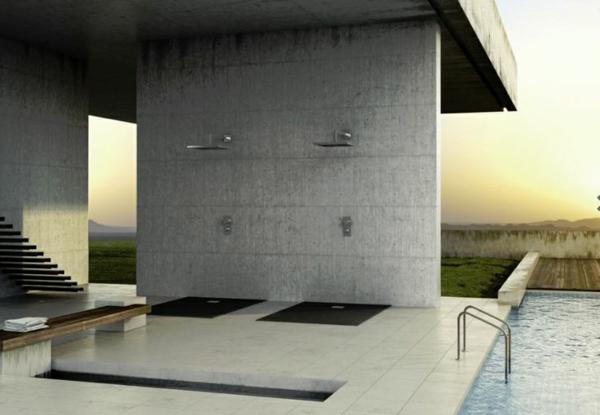 receveur-de-douche-extra-plat-deux-douches-extérieures