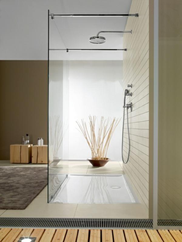 Le receveur de douche extra plat  élégance pour la salle
