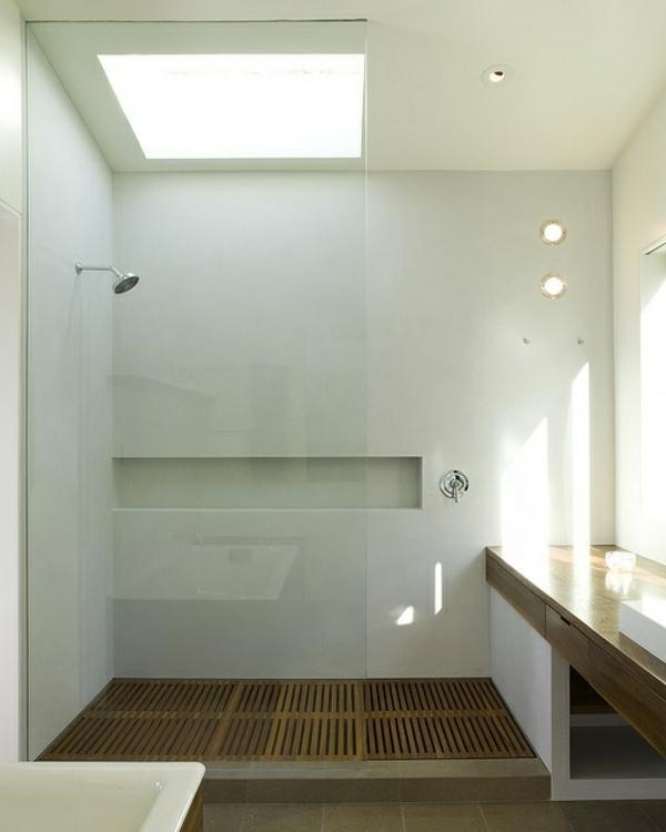 Receveur Douche En Bois : Receveur de douche extra plat pour une cabine de douche spacieuse