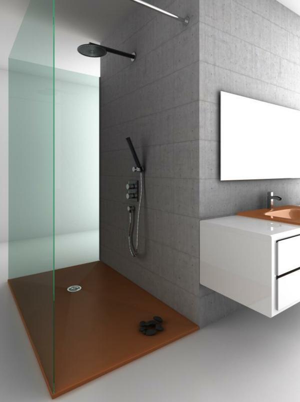 Le receveur de douche extra plat l gance pour la salle de bains - Receveur de douche extra plat a carreler ...