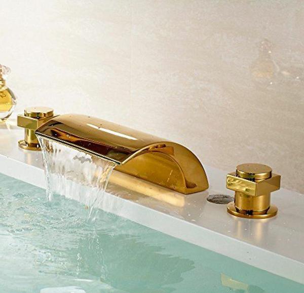 robinet-cascade-doré-ondulant