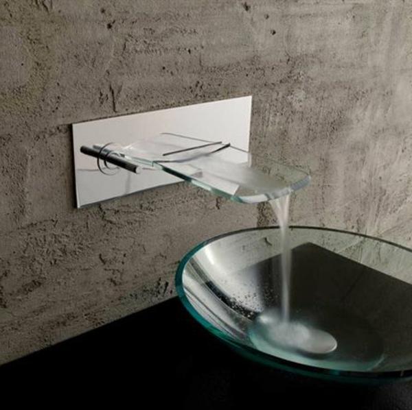 Le robinet cascade en 70 photos for Robinet mural vasque