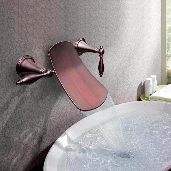 robinet-cascade-mitigeur-bronze-design-ancien